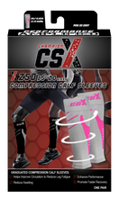 CSX Pink on Gray Compression Calf Sleeves Packaging
