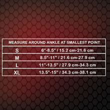 X317 Ankle Wrap Size Chart