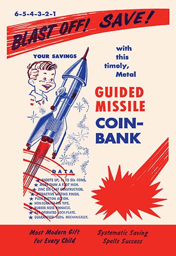 Buyenlarge Guided Missile Coin-Bank - 12x18 Paper Art Print