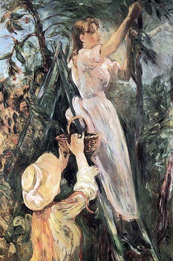 Buyenlarge The Cherry Tree - 20x30 Canvas Giclee By Berthe Morisot