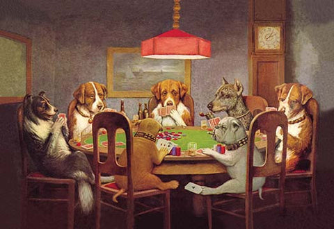 Passing the Ace Under the Table (Dog Poker)