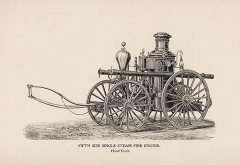 Fifth Size Single Steam Fire Engine: Hand Draft