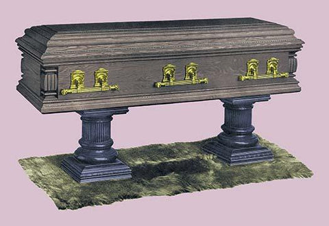 Casket with Marble Stand