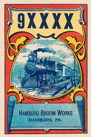 9XXXX Steam Train Broom Label