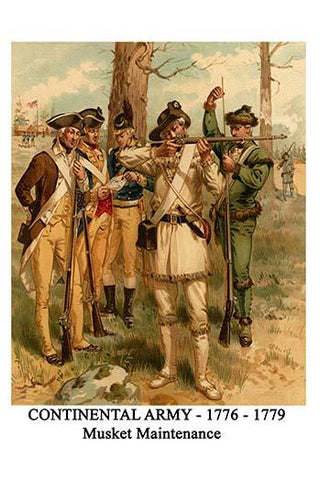 Continental Army - 1776 - 1779 - Musket Maintenance