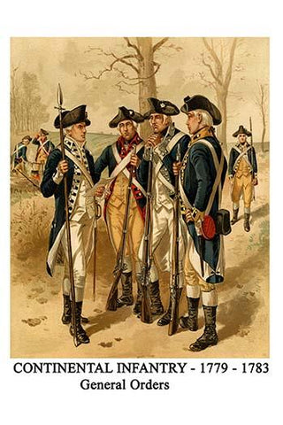 Continental Infantry - 1779 - 1783 General Orders