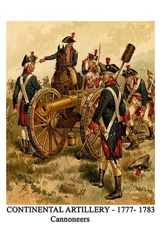 Continental Artillery - 1777- 1783 Cannoneers