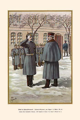 "Colonel of the 25th Infantry Regiment ""Von Lutzow"" - Rhenish - Hohenzollern Overcoat"