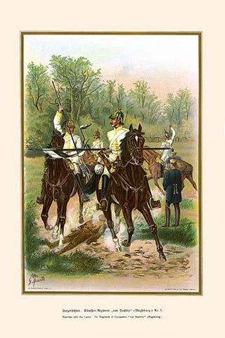 Lance exercises 7th Regiment Magdeburg Cuirassiers