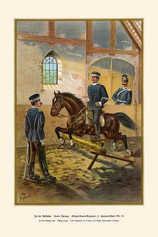 At the Riding Hall - Flying Jump 1st Royal Hanoverian Uhlans - 13th Regiment