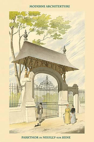 Gate in Neuilly By the Seine - Paris, France