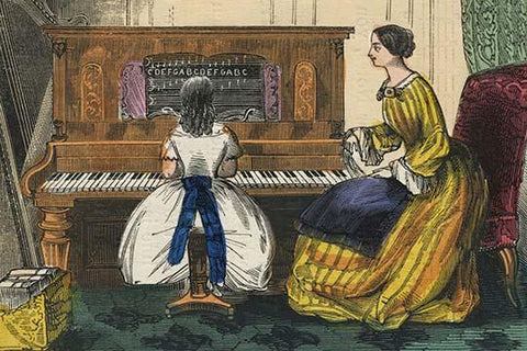 Young Girl Play a Piano