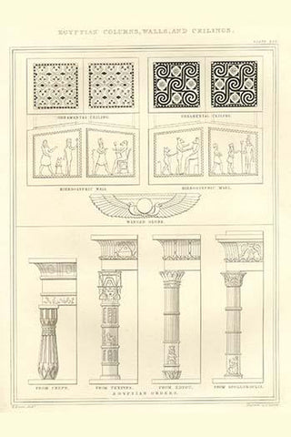 Egyptian Columns, walls & Ceilings