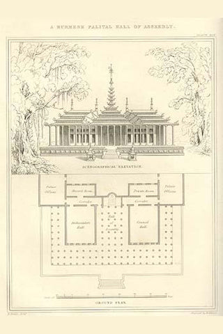 Burmese Palatial Hall of Assembly