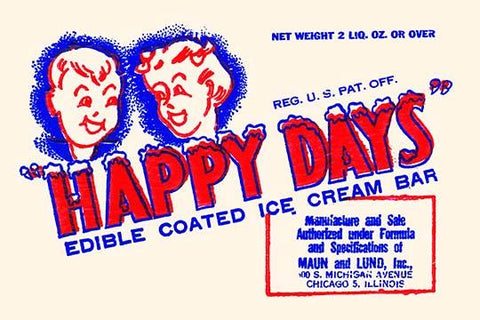 Happy Days Edible Coated Ice Cream Bar