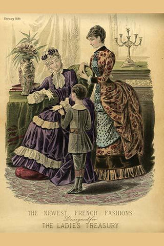 Newest French Fashions - 1884