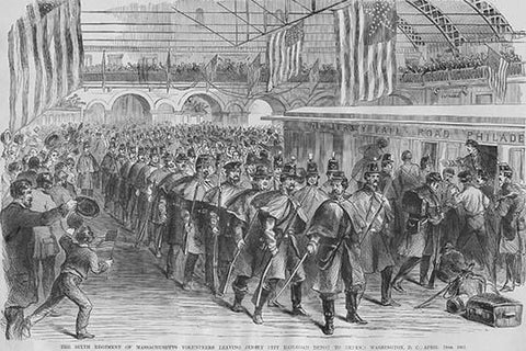 Massachusetts Volunteers On To Washington