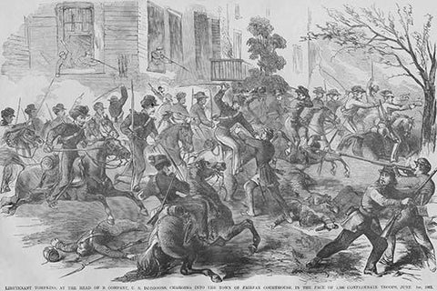 Union Cavalry Charge into Fairfax County Virginia under Tomkins