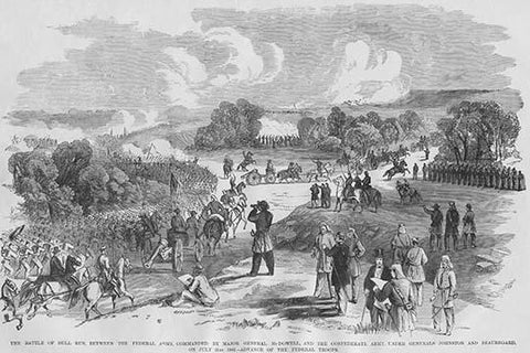 First Bull Run - Manassas, Federal Troops advance but were defeated