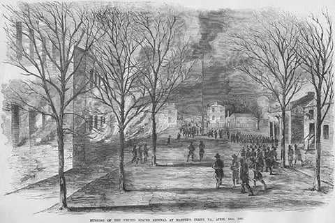 Burning the US Arsenal at Harper's Ferry, Virginia