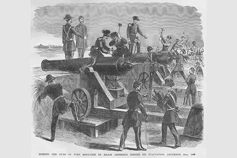 Spiking the Guns of Fort Moultrie Before Evacuation