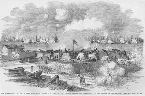 Bombardment of Fort Walker, Port Harbor, South Carolina