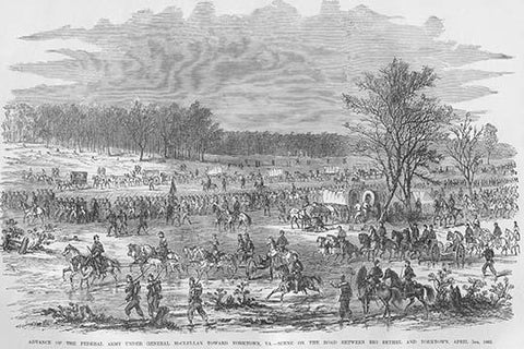 McClellan's Troops Advance Toward Yorktown