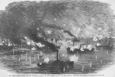 Mississippi Naval Battle At St. Philip - Commodore Farragut