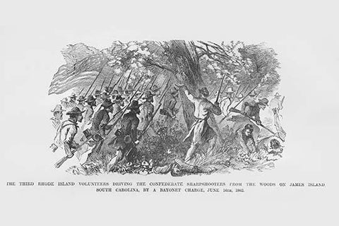 Bayonet Charge Against the Confederates on James Island