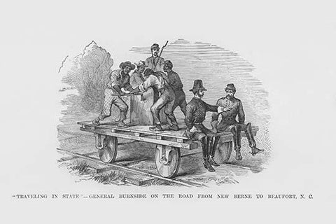 General Burnside on Railroad Track conveyance