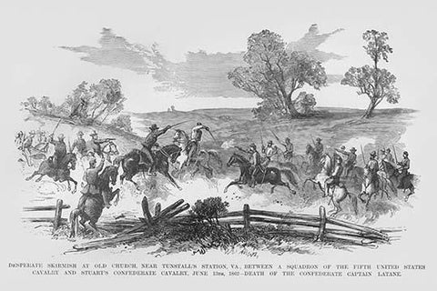 Skirmish between Federal Cavalry & JEB Stuart at Tunstall's Station, Virginia