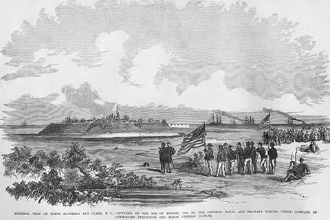 Capture of Forts Hatteras & Clark by Commodore Stringham and General Butler