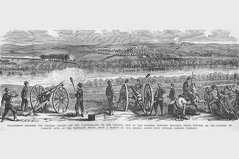 Artillery Battle at Edward's Ferry with Parrott Guns