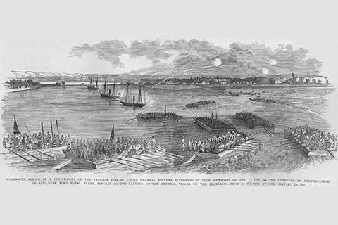 Attack on Port Royal under Stevens with gunboats & bombardment