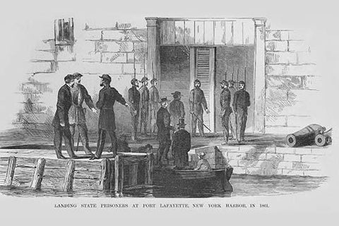 Landing Prisoners at Fort LaFayette, New York