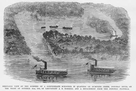 Burning of the Confederate Schooner in Quantico or Dumfries Creek