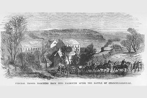 Federals march into Falmouth after the Battle of Chancellorsville