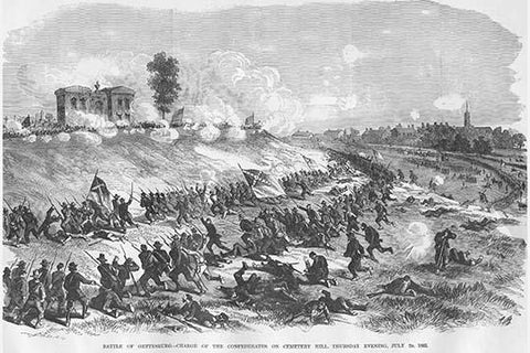 Battle of Gettysburg at Cemetery Hill