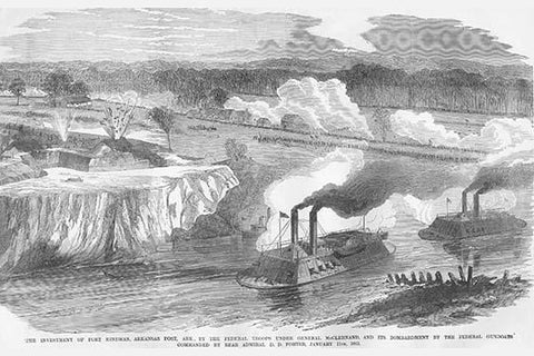Admiral Porter Bombardment of Fort Hindman, Arkansas