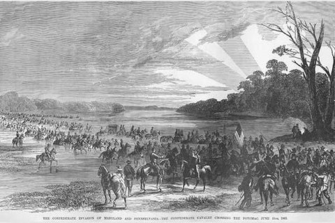 Confederate Cavalry Crosses the Potomac invading Maryland & Pennsylvania