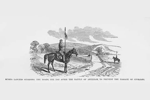 Rush's Lancers Guard Road after Antietam