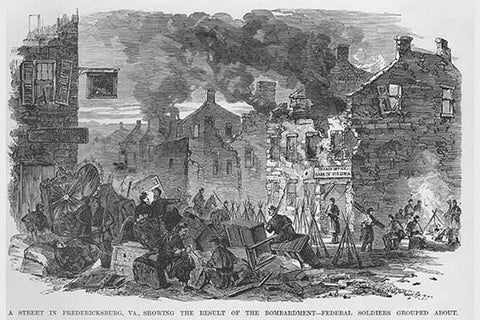 Ruins after Bombardment in Fredericksburg
