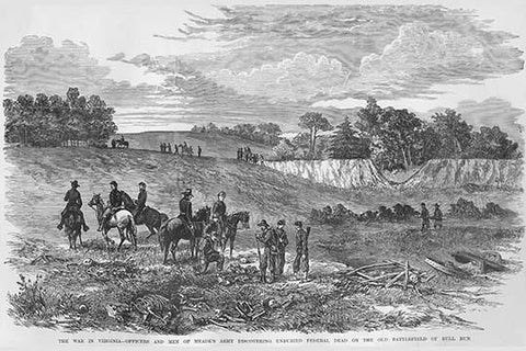 Meade's Troops uncover Dead at Bull Run