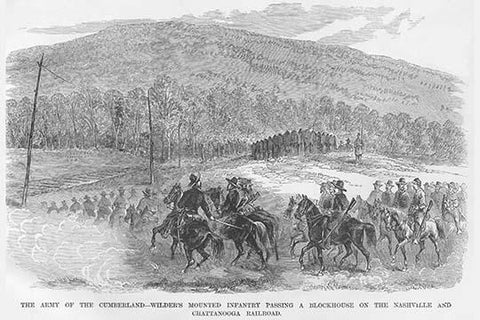 Wilder's Mounted Infantry passes a blockhouse