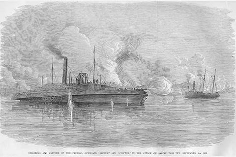 "Capture of Federal Gunboats ""Sachem"" & ""Clifton"""