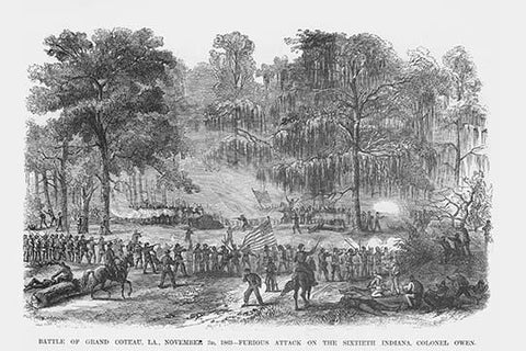 Battle of Grand Coteau or Bayou Bourbeux, Louisiana