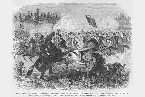 JEB Stuart & General Averill Battle at Kelly's Ford on the Rappahannock