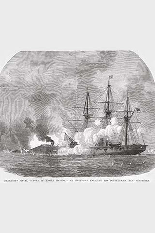 Farragut's Naval Victory at Mobile Bay.