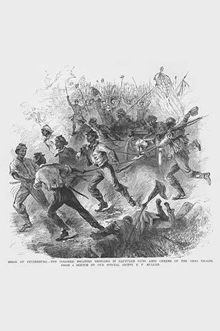 Attack of African American Troops at Petersburg to the Cheer of Ohioans