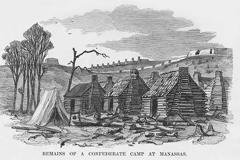 Abandoned Confederate log cabins at Manassas